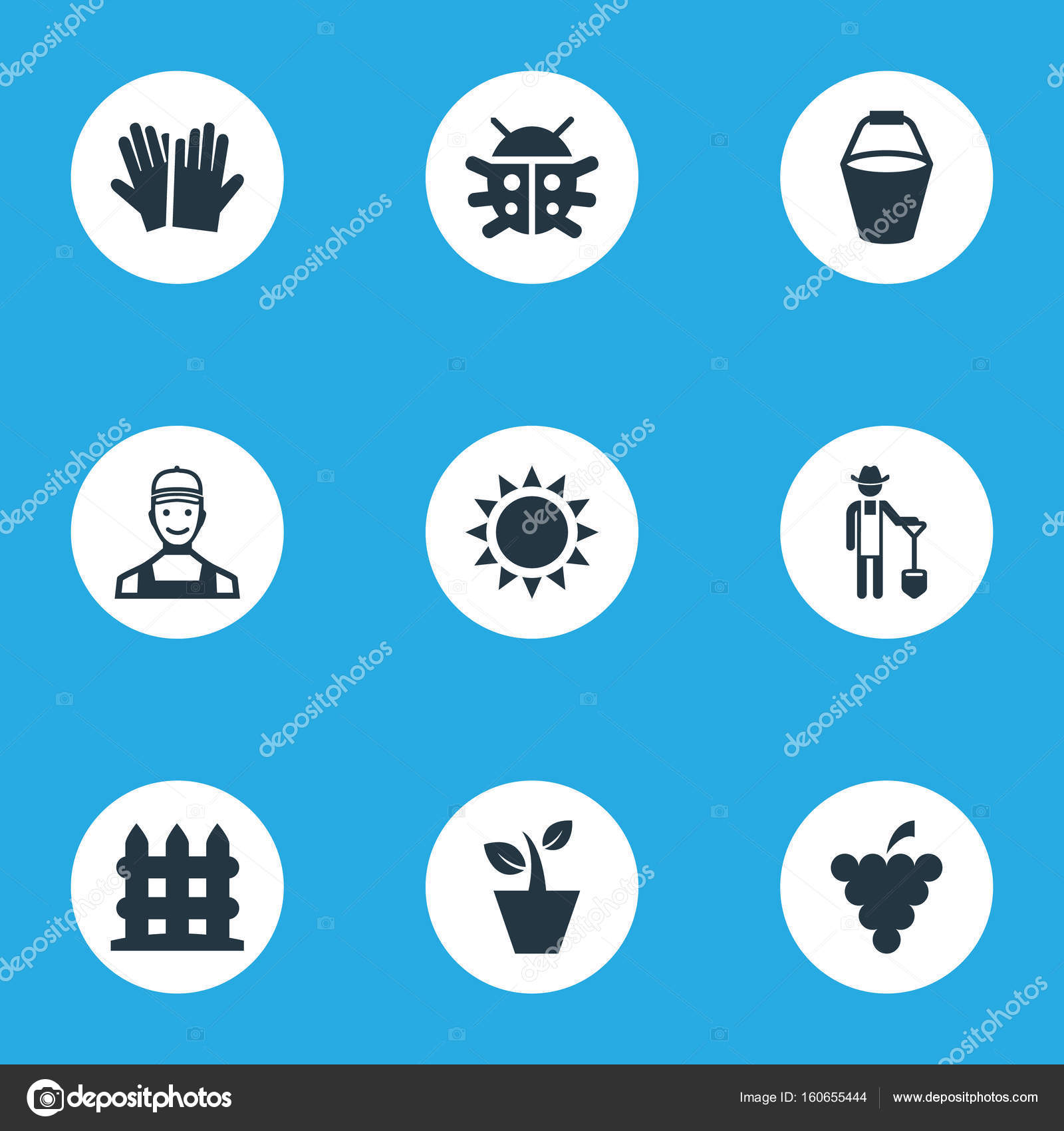 231 & Vector Illustration Set Of Simple Horticulture Icons. Elements ...