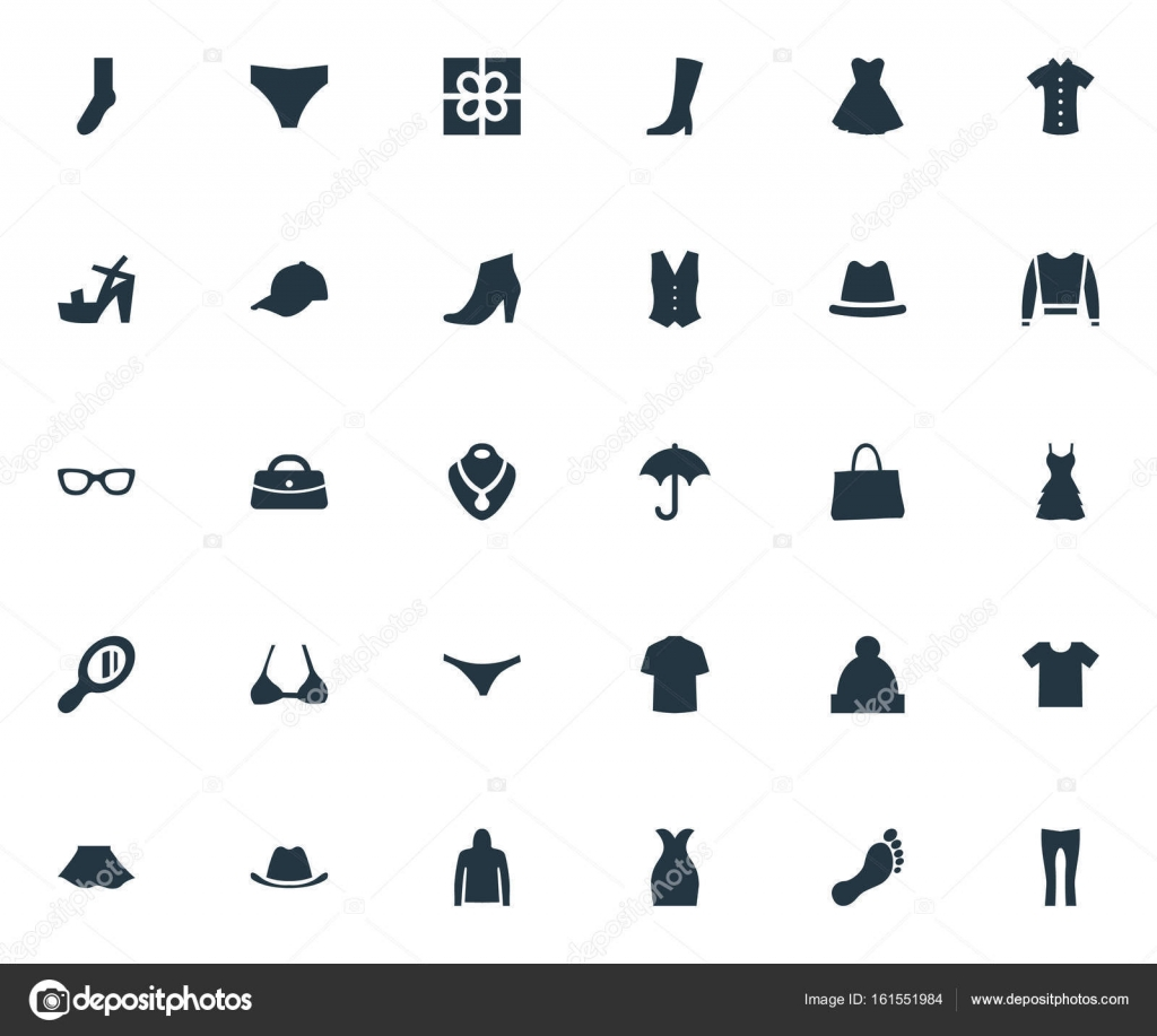 cheap for discount 97234 c2db6 Vektor-Illustration-Set einfache Kleidung Symbole. Elemente ...