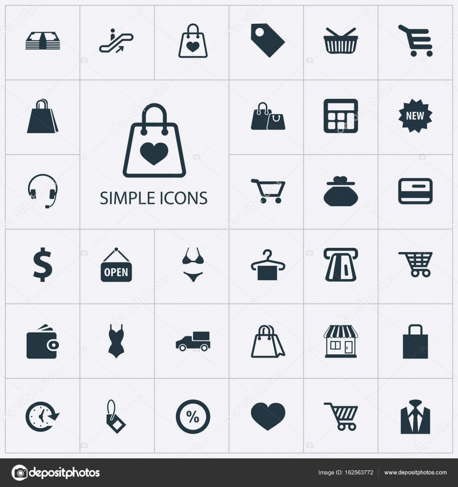 Conjunto Simple De Iconos Ilustración Vector DineroCalcular CBQrxtshdo