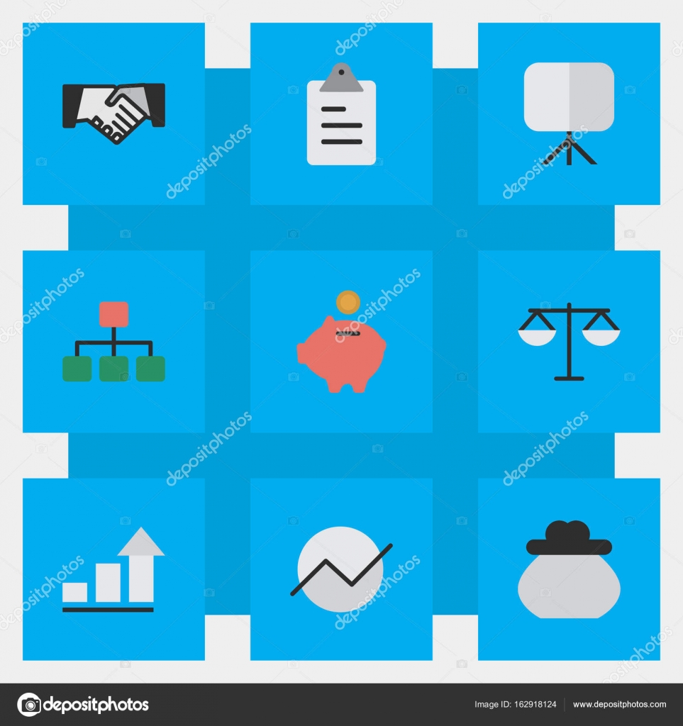 Vector Illustration Set Of Simple Job Icons. Elements Agreement ...