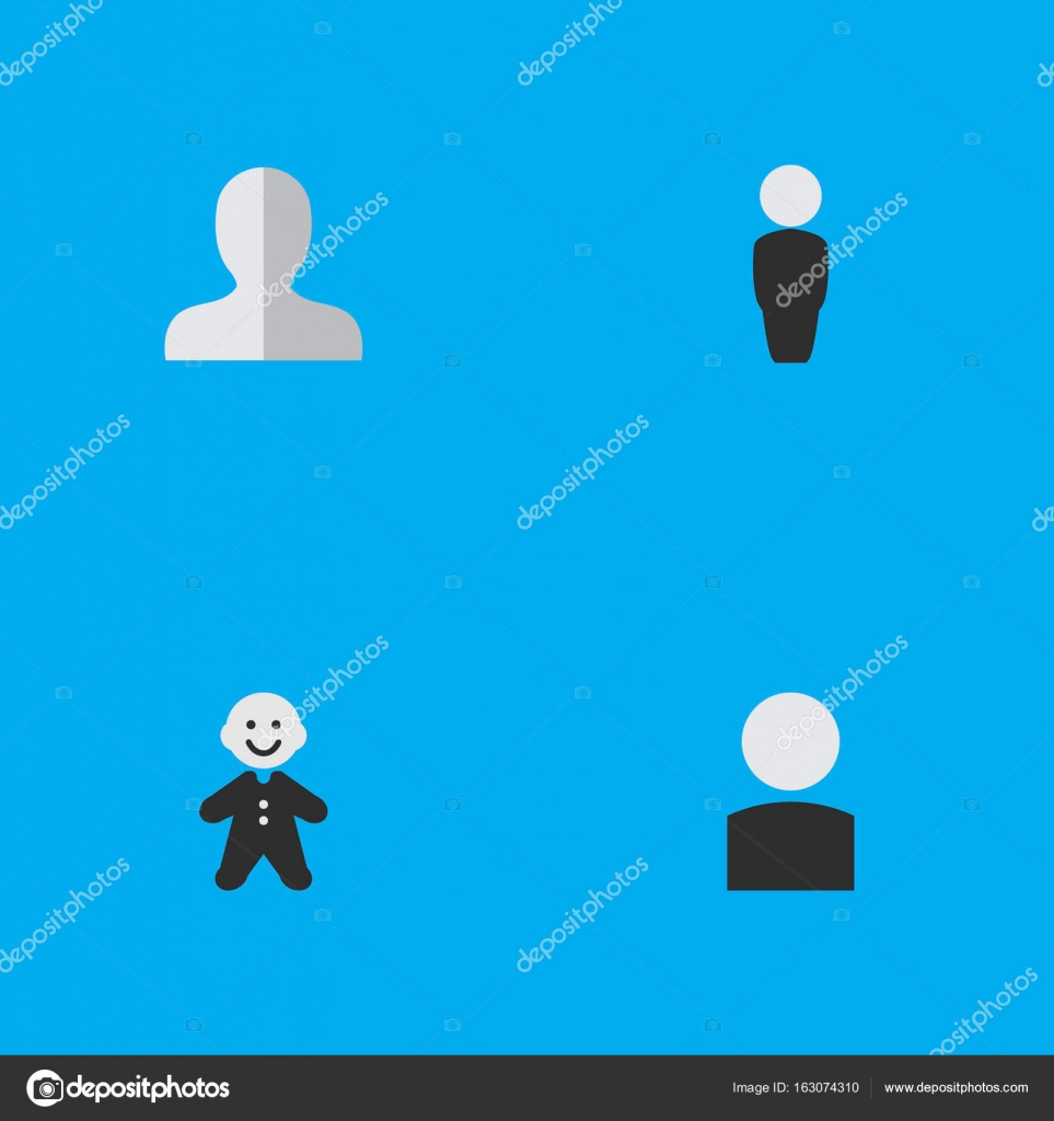 Vektor Illustration Set Von Einfachen Avatar Icons Elemente Kerl