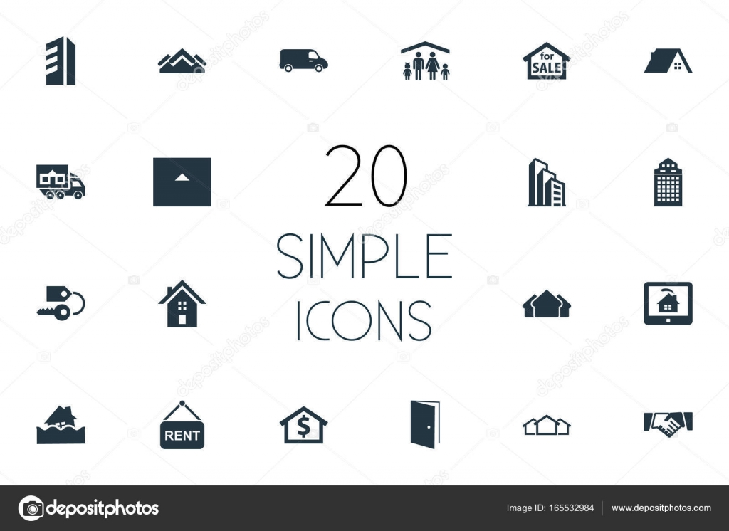 Elements Open Door People High-Rise And Other Synonyms Eco Ticket And Residental. Vector Illustration Set Of Simple Property Icons.  sc 1 st  Depositphotos & Vector Illustration Set Of Simple Property Icons. Elements Open Door ...