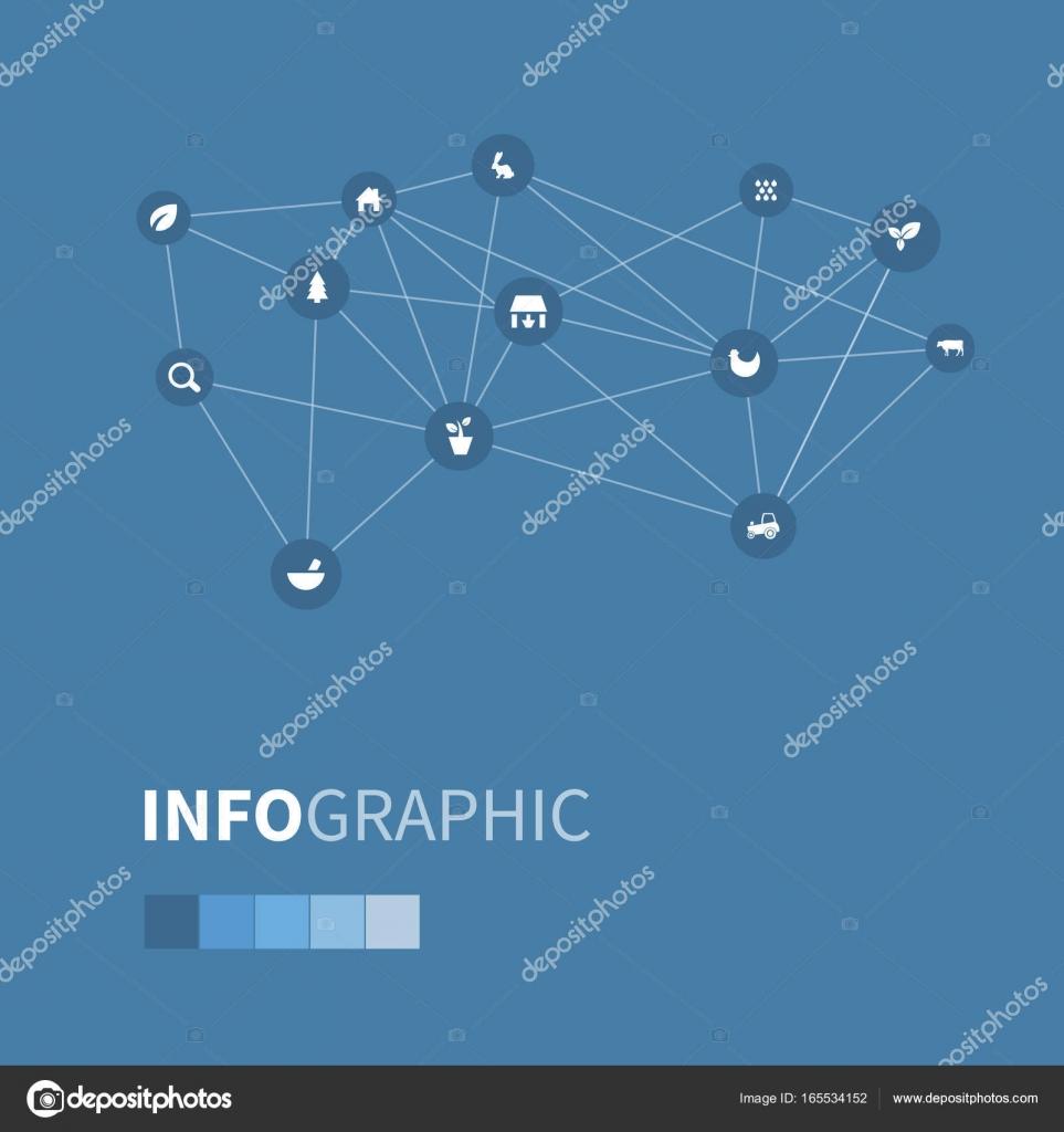 Conjunto de ilustración de vector de iconos agrícolos Simple ...