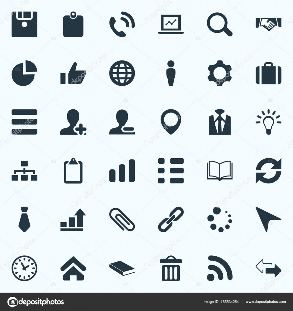 Vector illustration set of simple interaction icons elements elements textbook diagram agreement and other synonyms tie garbage and handshake vector illustration set of simple interaction icons platinumwayz