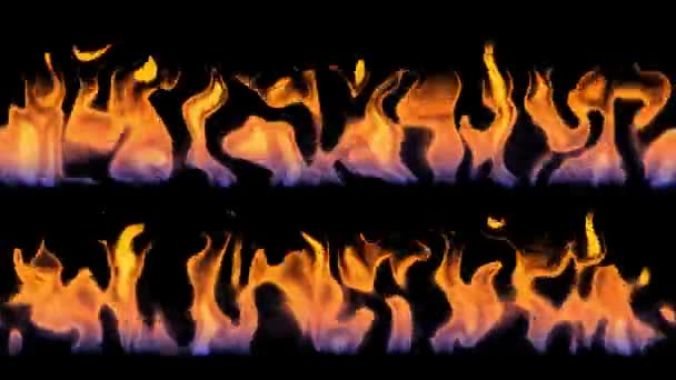 Bright fire/flame animation vfx effects on black background.compositing into shots particle effect (4K UHD seamless looping, computer digitally generated animation.)
