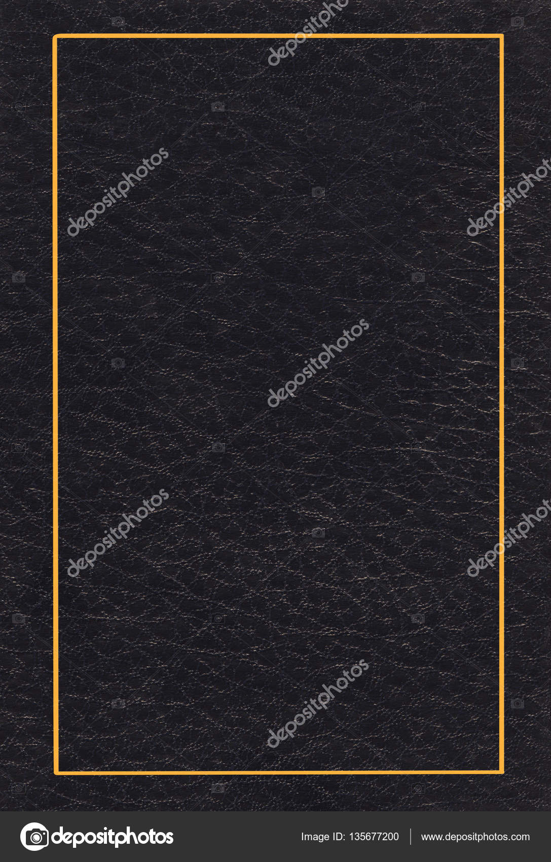 Book Cover Black And Gold ~ Black leather cover — stock photo dp