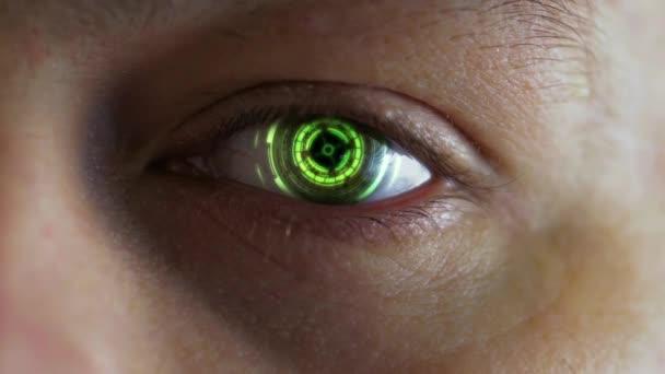 Zavřít futuristický oční skener