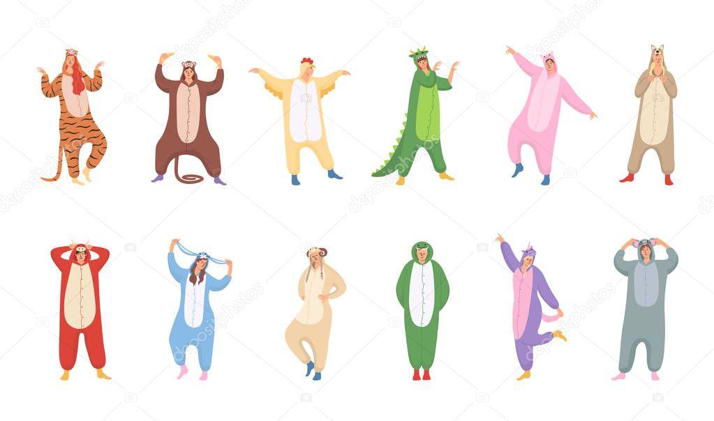 Cartoon Animals In Pajamas
