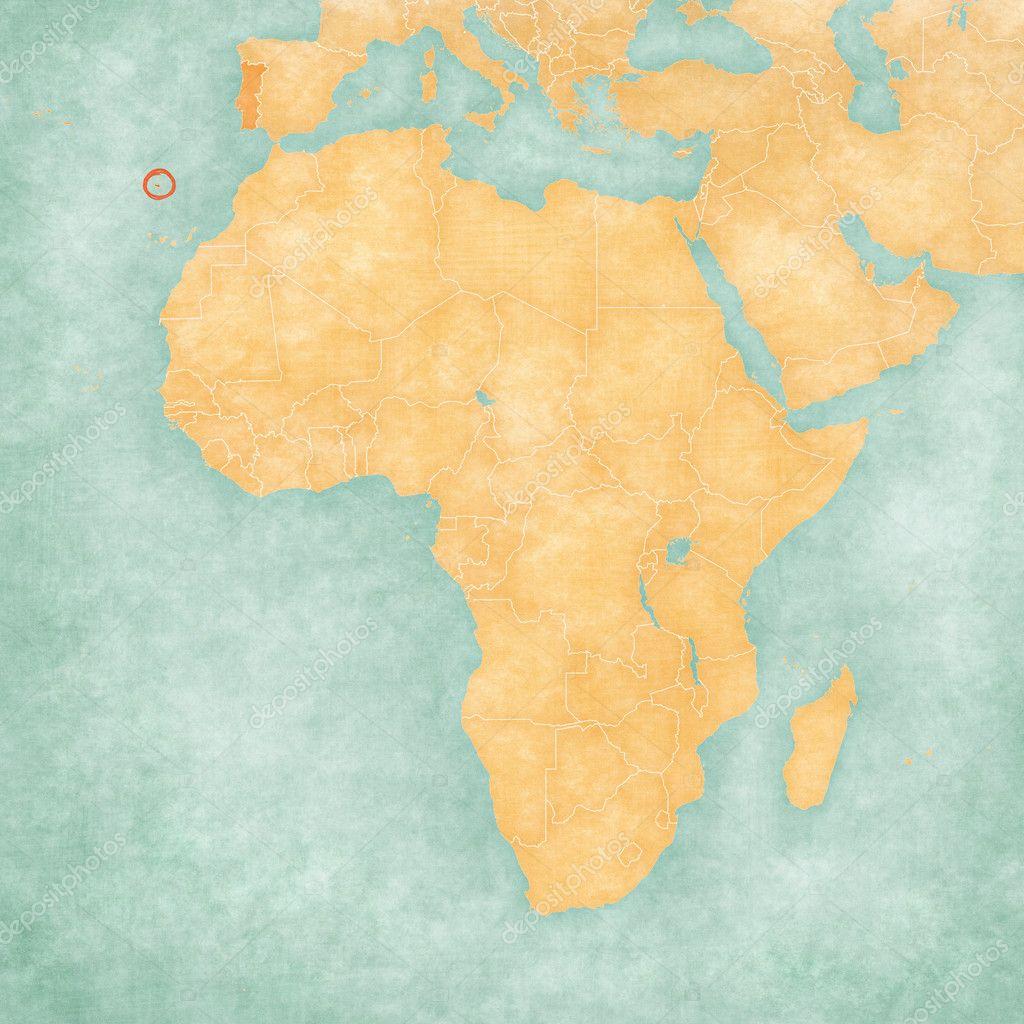 Map Of Africa Madeira Stock Photo C Tindo 125926940