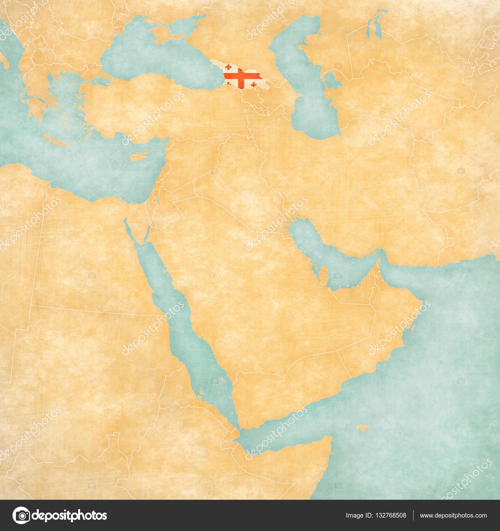 Map Of East Georgia.Map Of Middle East Georgia Stock Photo C Tindo 132768508
