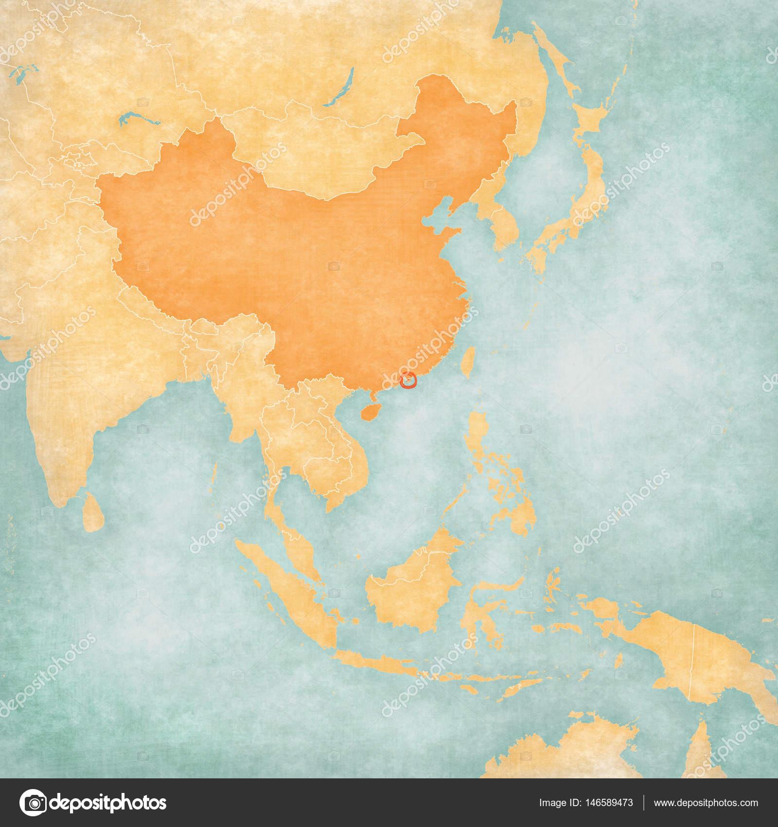 Map Of Asia Hong Kong.Map Of East Asia Hong Kong Stock Photo C Tindo 146589473