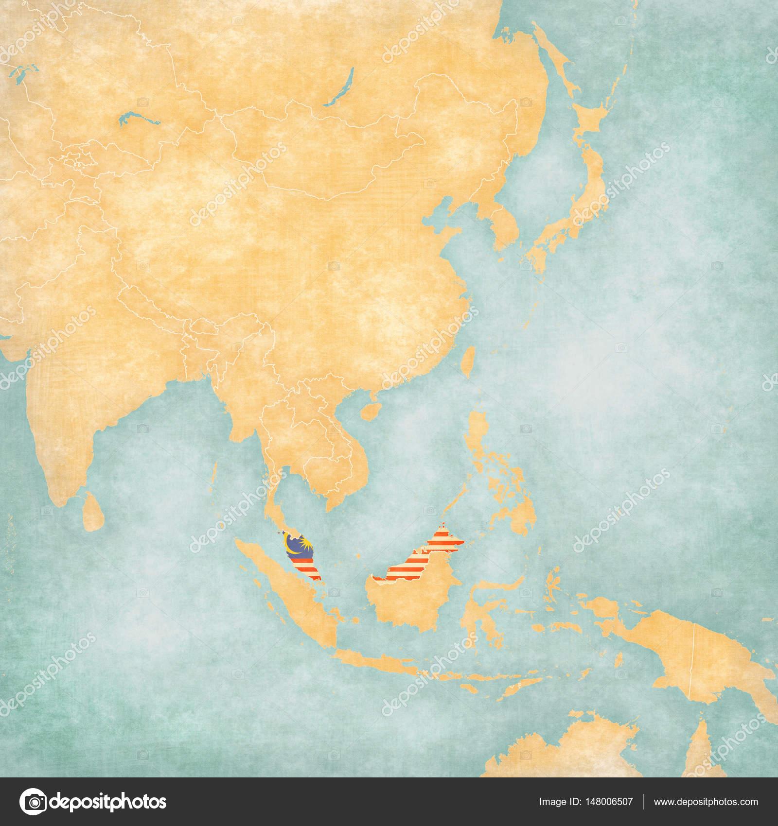 Map Of Asia Malaysia.Map Of East Asia Malaysia Stock Photo C Tindo 148006507