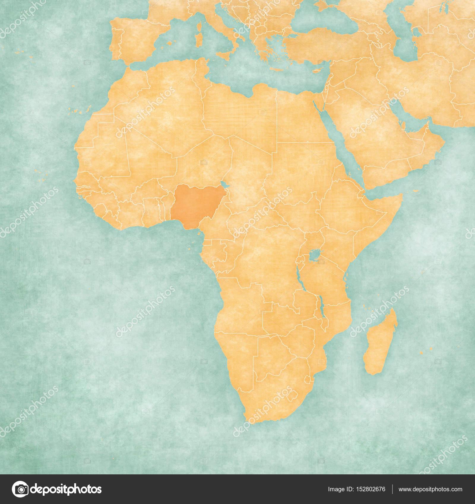 Map Of Africa Nigeria.Map Of Africa Nigeria Stock Photo C Tindo 152802676