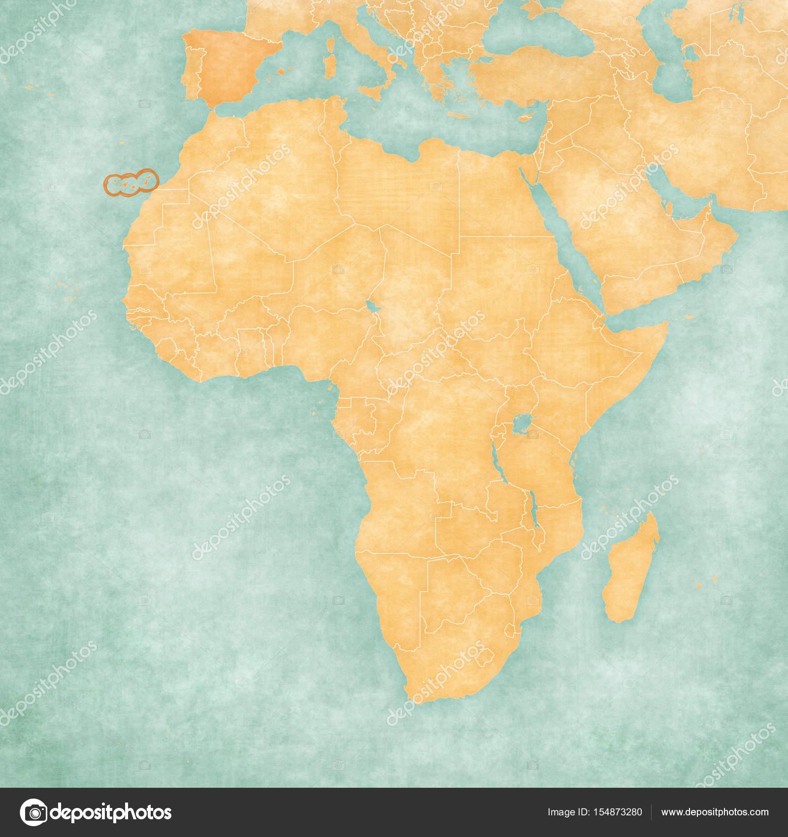 Mapa de frica Islas Canarias Foto de stock Tindo 154873280