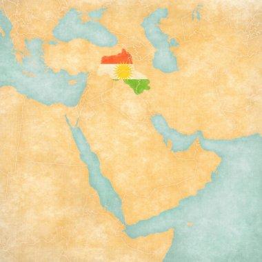 Map of Middle East - Kurdistan