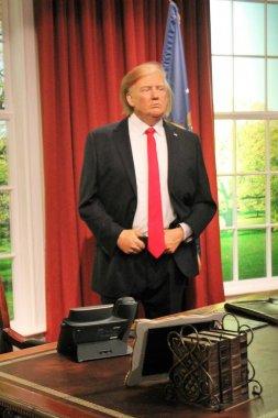 Donald Trump, London, United Kingdom - March 20, 2017: Donald Trump wax figure at Madame Tussauds London