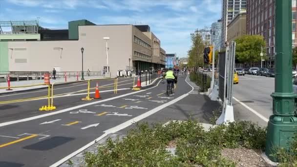 New York, NY - Cyklistické stezky podél Manhattan Greenway v západním Chelsea