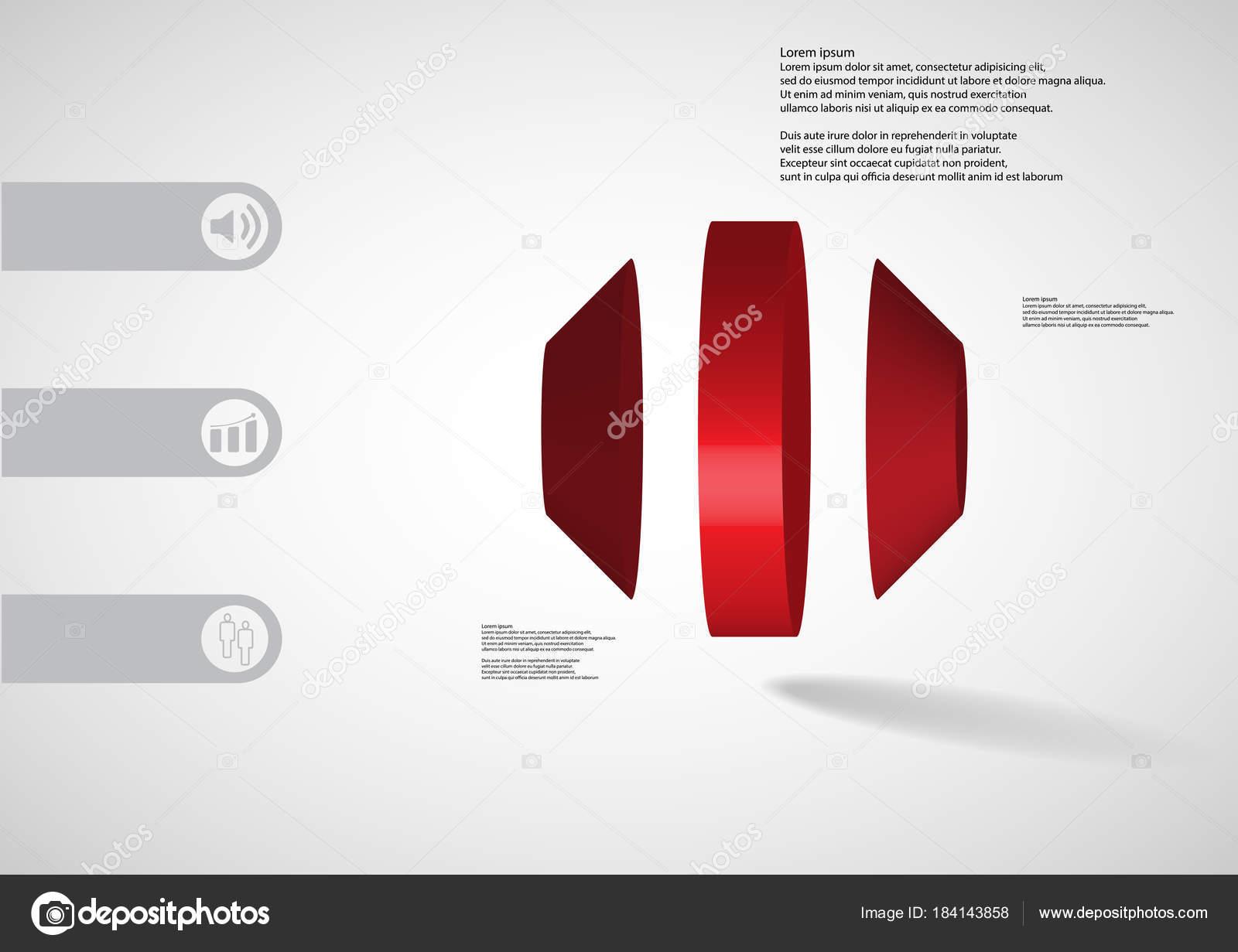 3D plantilla ilustración infografía octágono ronda dividida ...