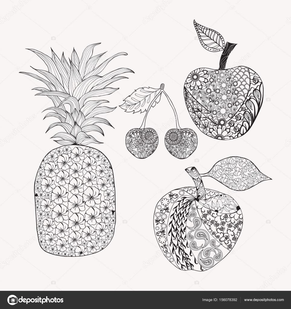 mewarna09 kleurplaat vrucht masker