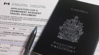 Application for a Permanent resident travel document form