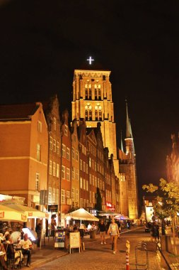 Gdansk / Poland - 17 Sep 2015: The city of Gdansk in Northern Poland at night
