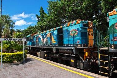 Kuranda / Australia - 05 Jan 2019: Train station in Kuranda, Cairns, Australia