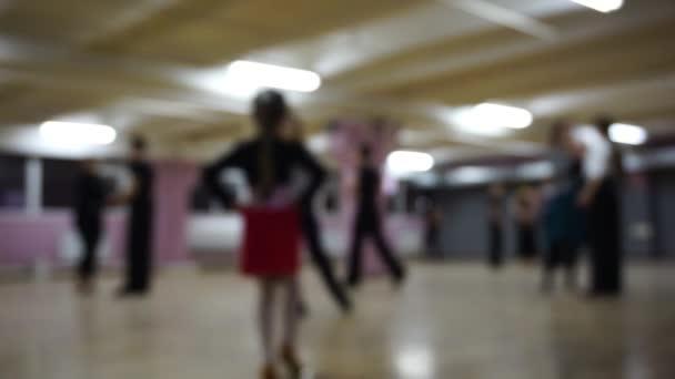Focusless ballroom dancers on the dance floor