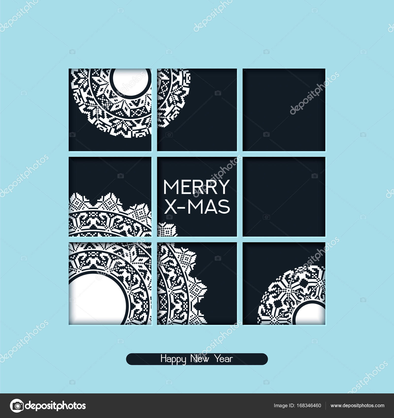 Vector holiday christmas postcard with greeting words and snow vector holiday christmas postcard with greeting words and snow whites with ornaments design for christmas cards presents covers posters vector by m4hsunfo