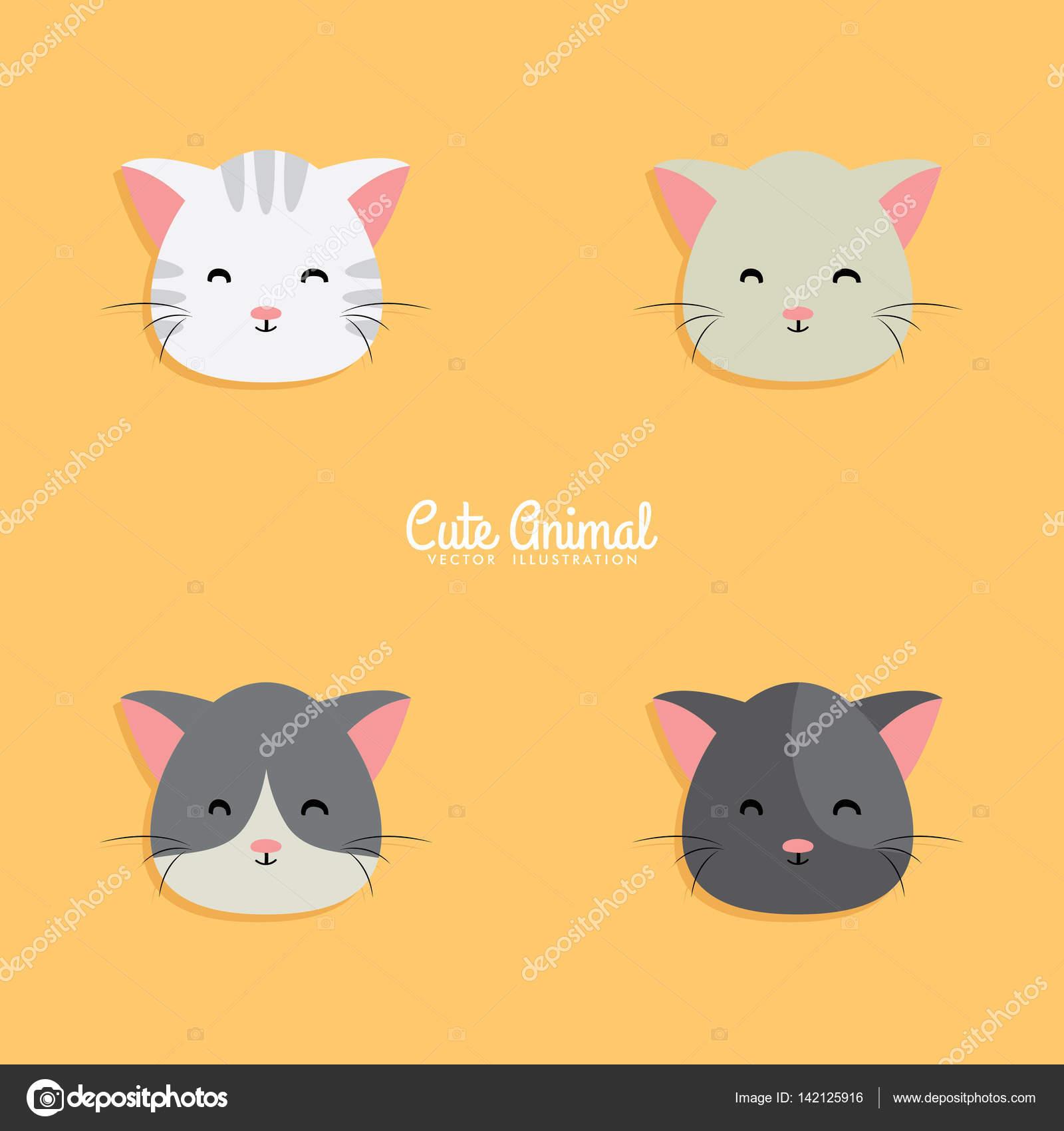 Imágenes Caras De Gatos Animados Caras De Dibujos Animados De