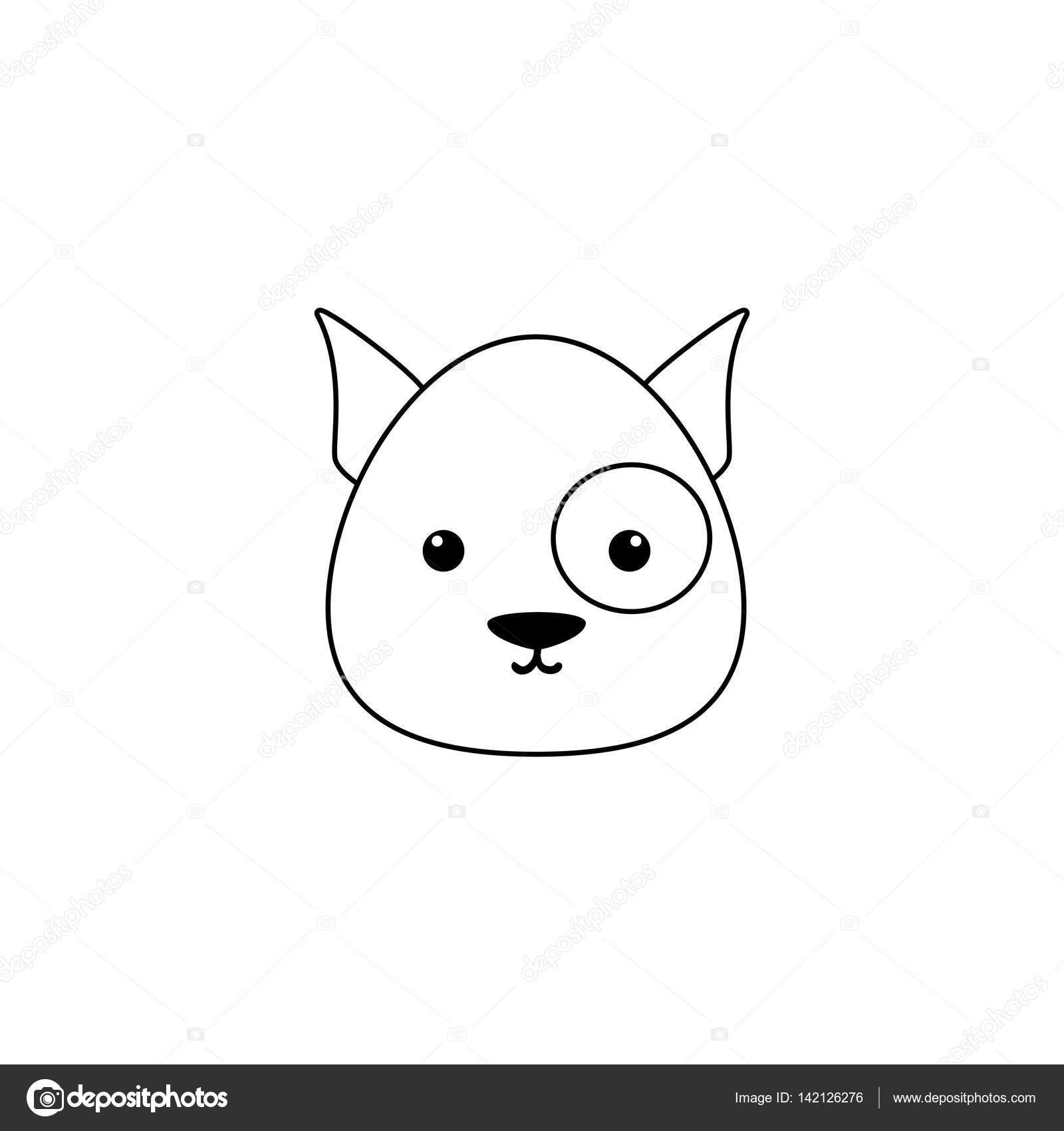 Dibujo De Cara De Perro Archivo Imágenes Vectoriales Davids47