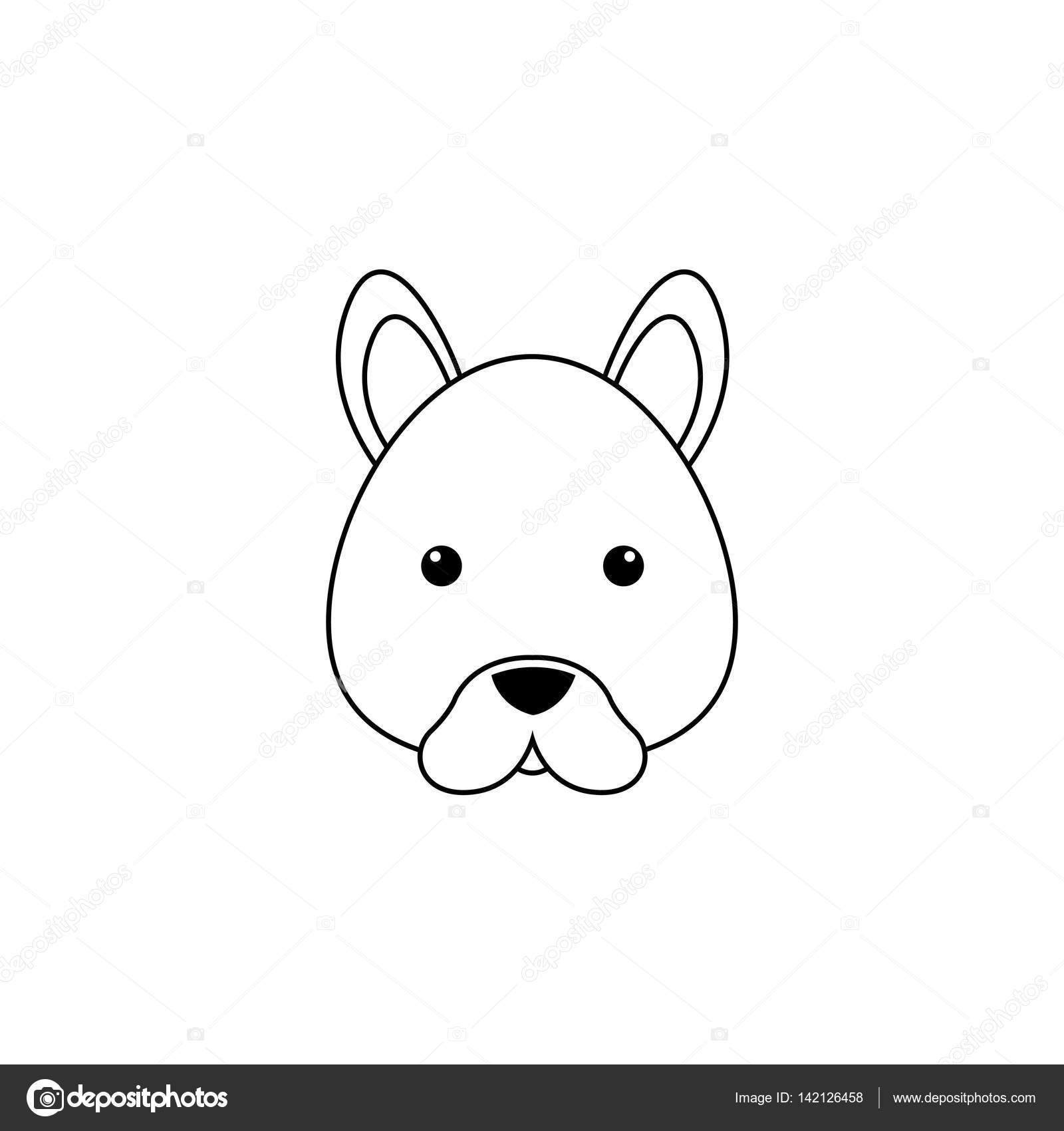 dog drawing face stock vector davids47 142126458