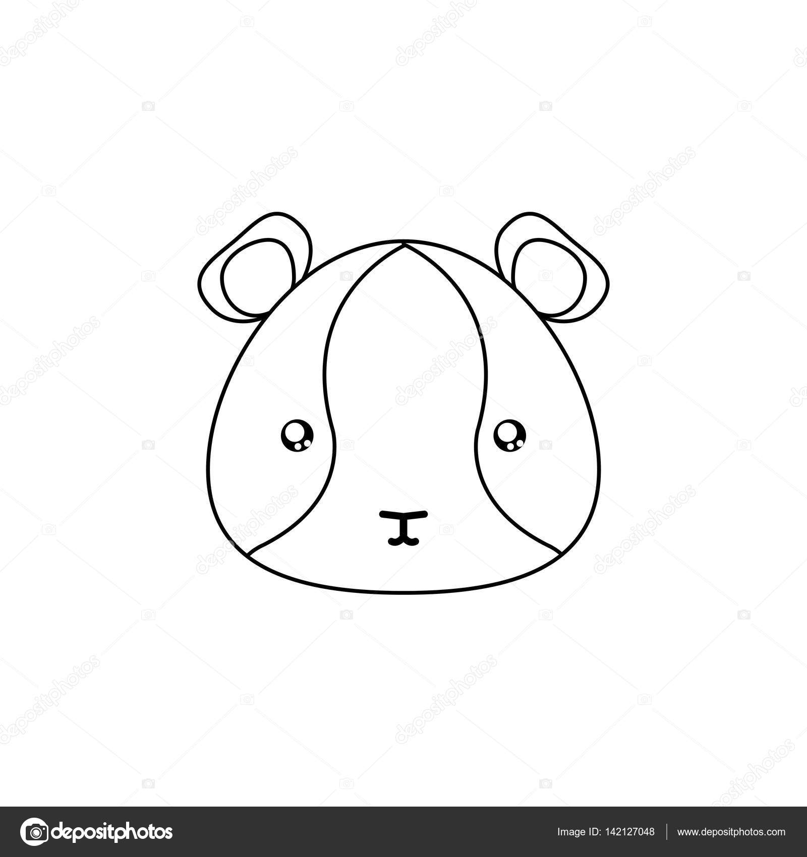 abstract animal line drawing face on a white background vector by davids47