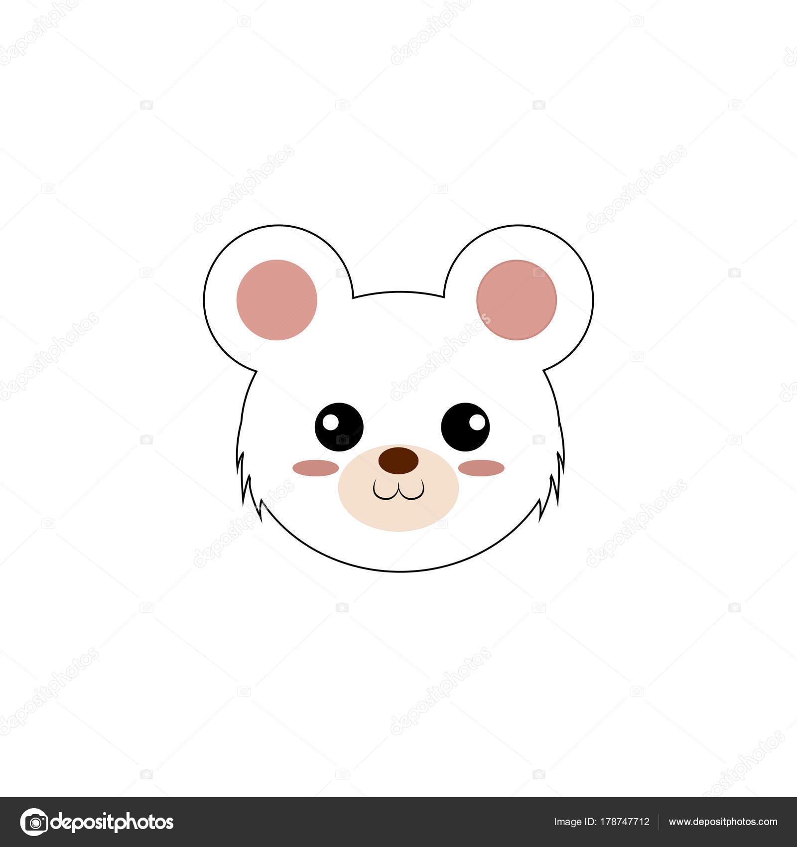 Cute Animal Face Stock Vector C Davids47 178747712