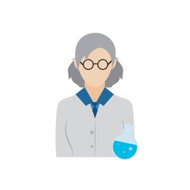Isolated chemist biologist icon