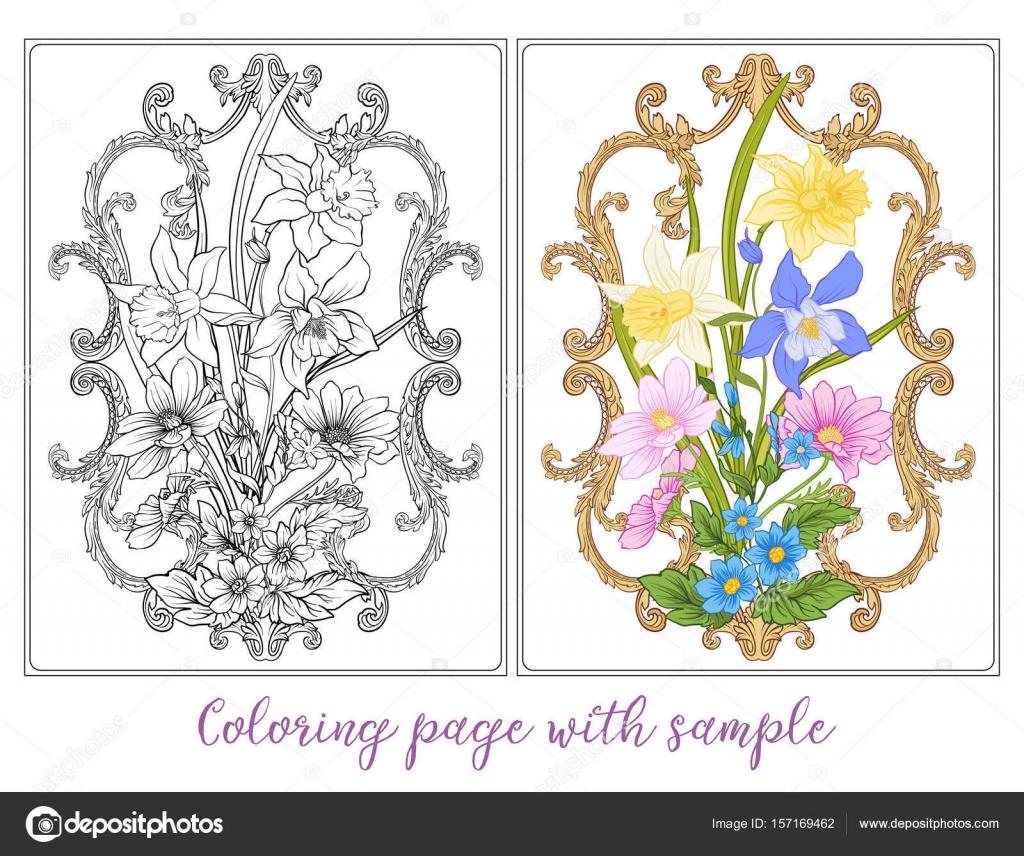 Satz oder Gliederung und farbigen Sommer Blumen Blumenstrauß Mohn ...