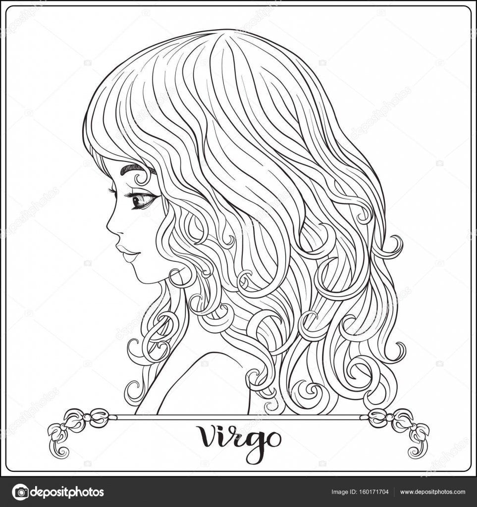 Virgo A Young Beautiful Girl In The Form Of One Of The Signs Of