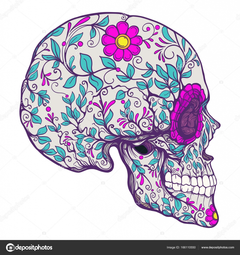 Sugar Skull The Traditional Symbol Of The Day Of The Dead Stoc