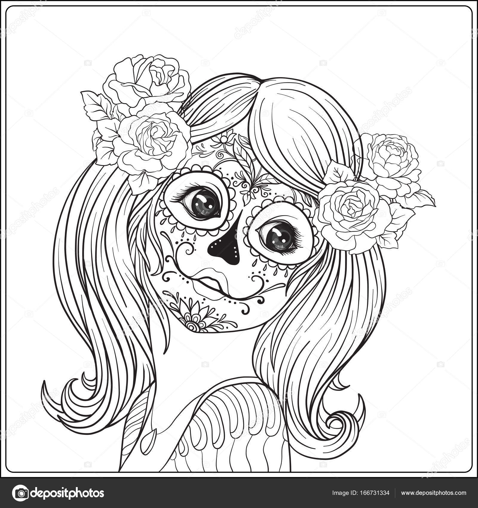 Dibujos Para Colorear De Lobos Mexicanos Retrato De Una Joven