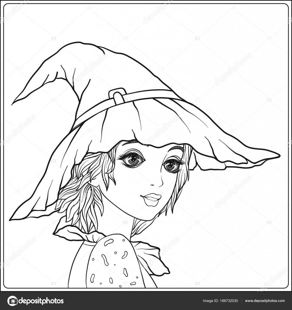 Porträt eines jungen schönen Mädchens in Halloween oder Tag des De ...