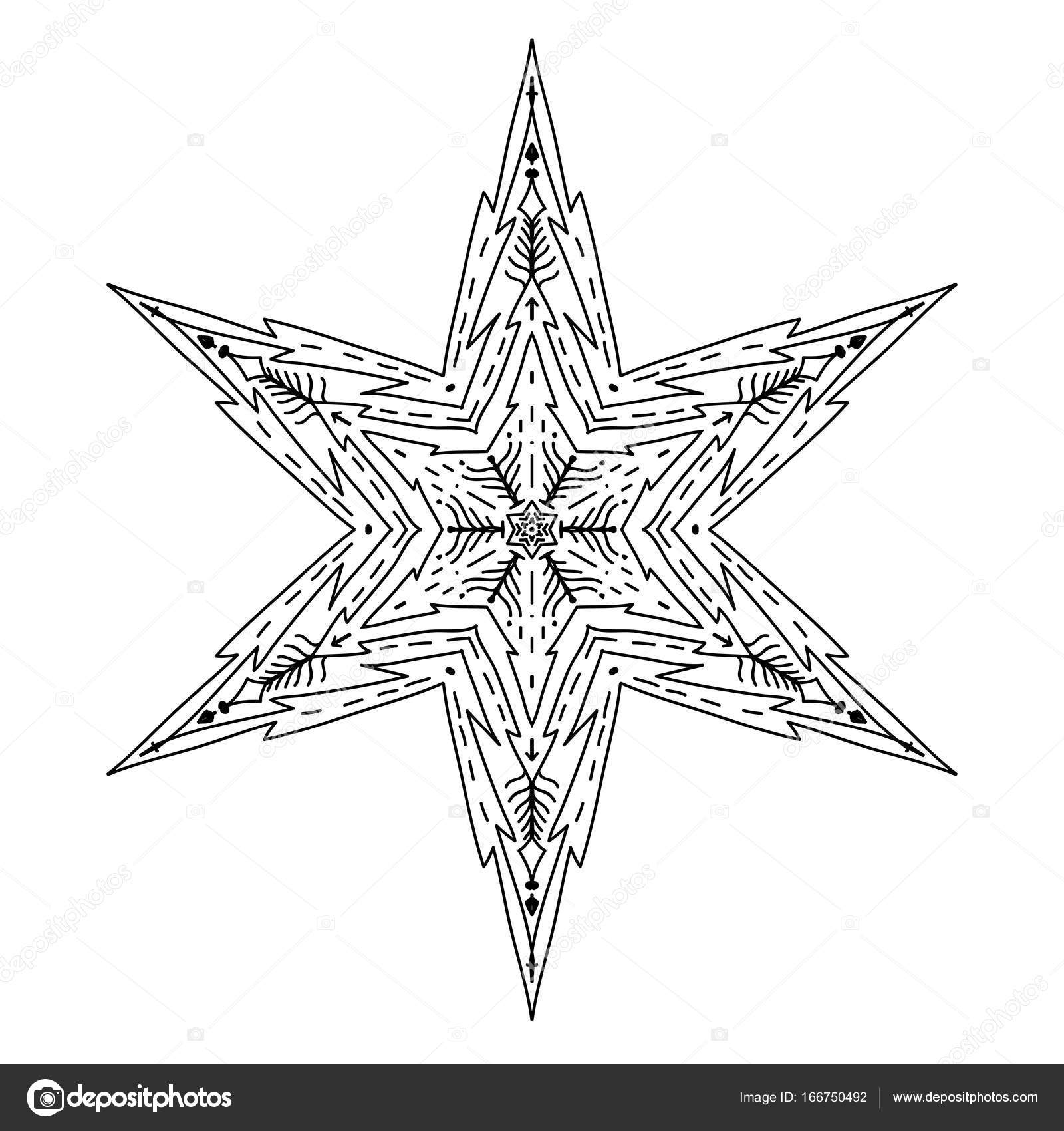 Sterne im dekorativen Stil. Lager Linie Vektor-illustration ...