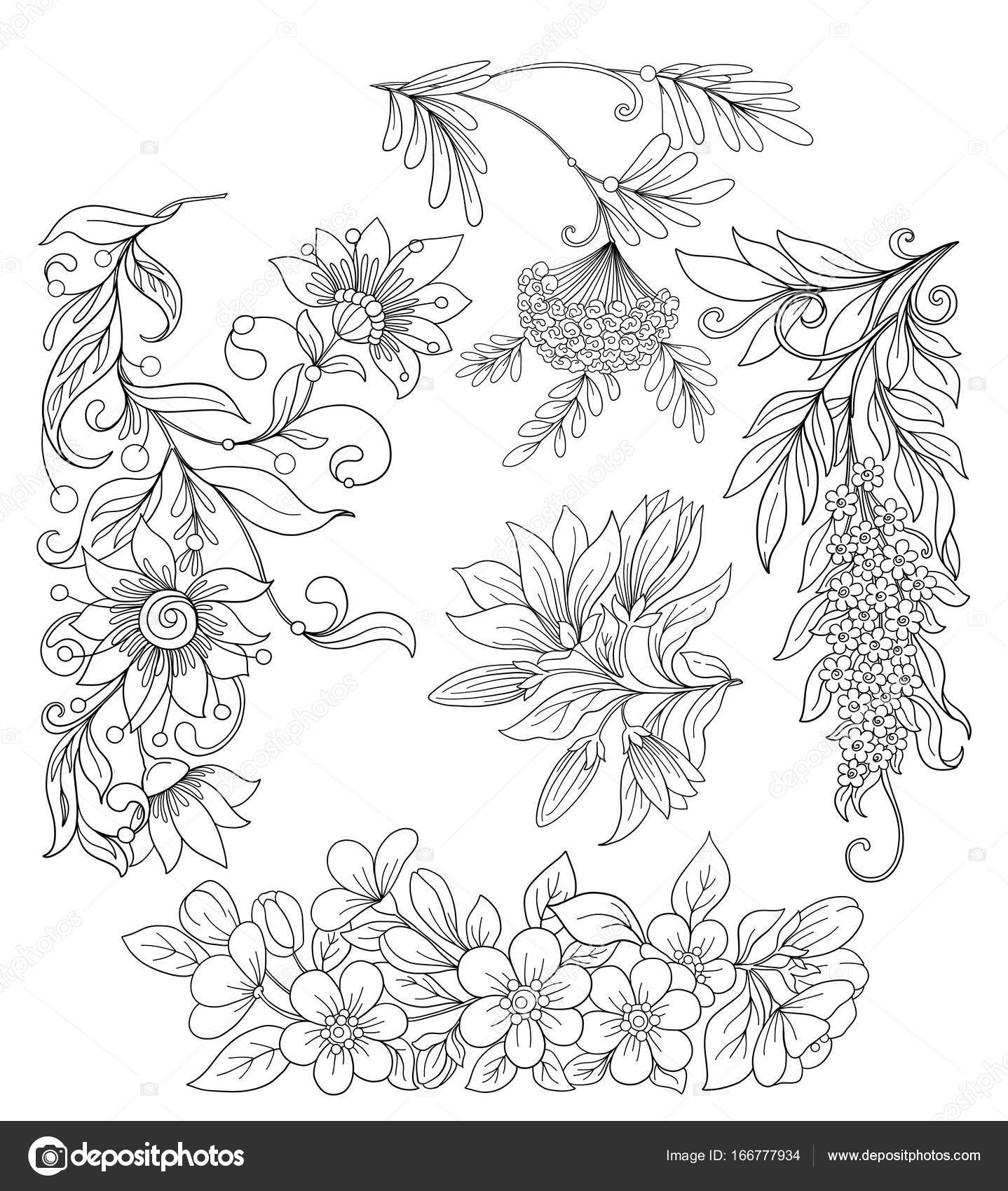 Insieme Dei Fiori Di Primavera Illustrazione Vettoriale Di Stock