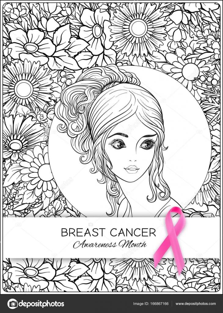 Dibujos: lazo cancer de mama para colorear | Cartel de mes mama ...