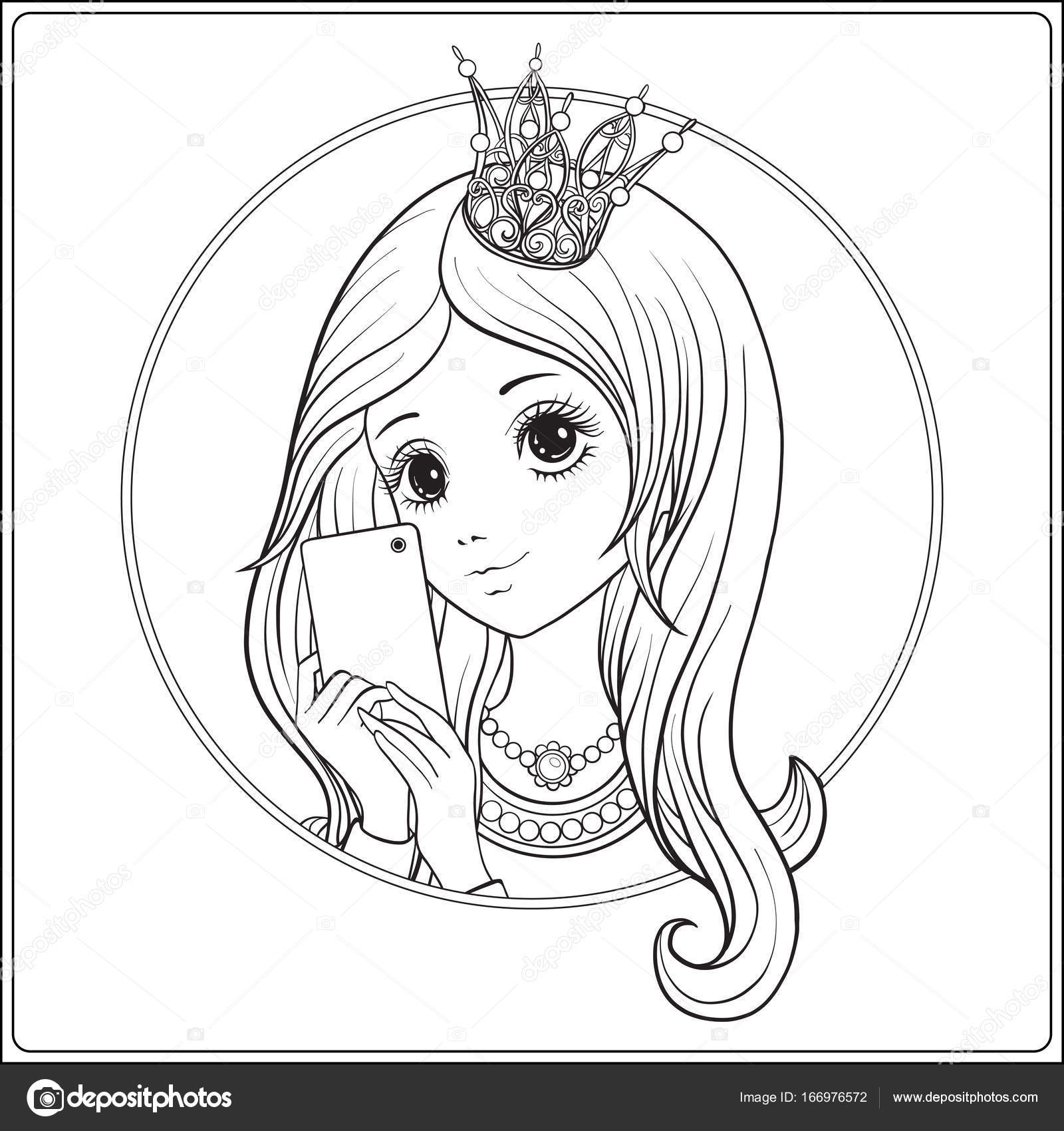 Stunning Young Nice Girl With Long Hear And Princess Crown