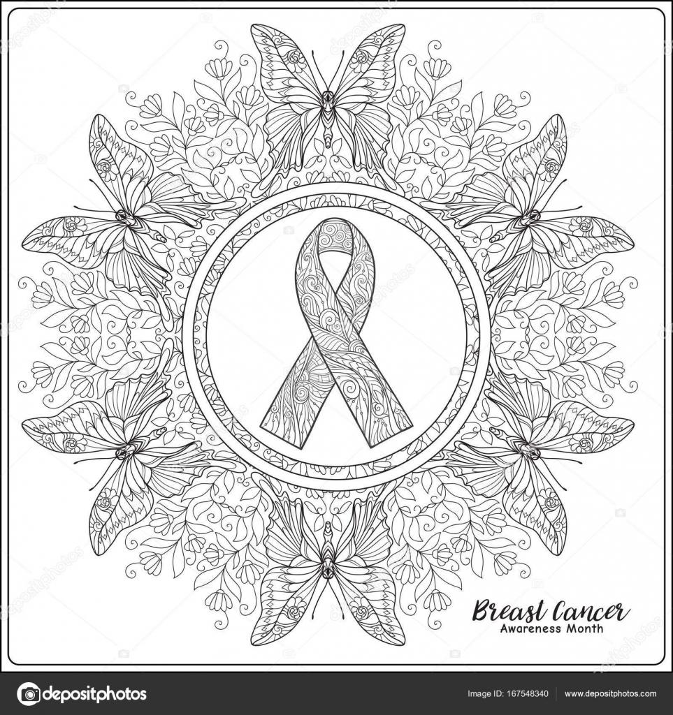 Cinta cáncer de pecho conocimiento mes decorativa rosa en decorati ...