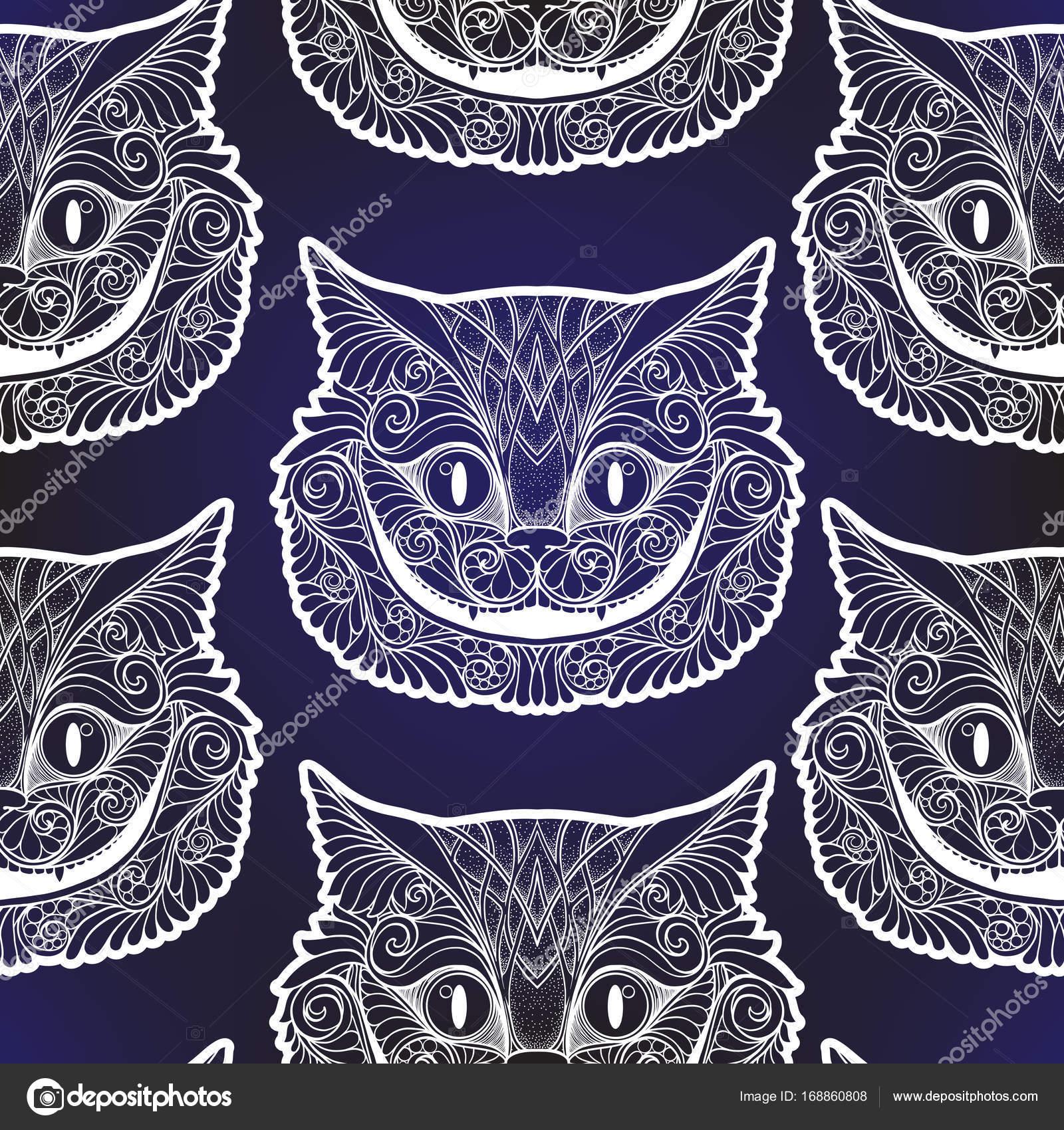 Cabeza de gato de Cheshire del cuento de hadas — Archivo Imágenes ...