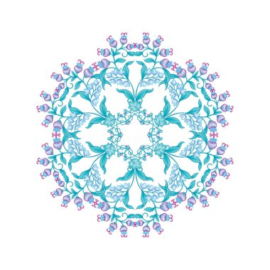 Tradition mughal motif, fantasy flowers