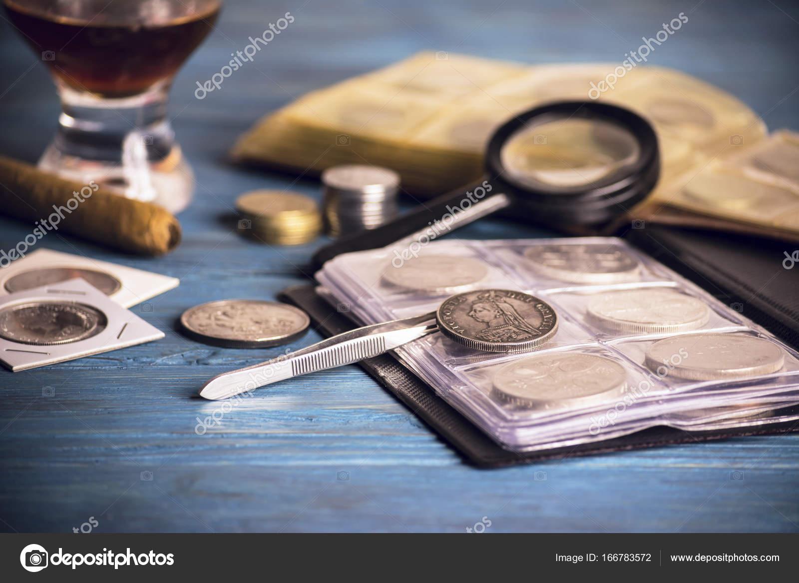 Alte Wertvolle Münzen Sammeln Stockfoto Mikitiger 166783572