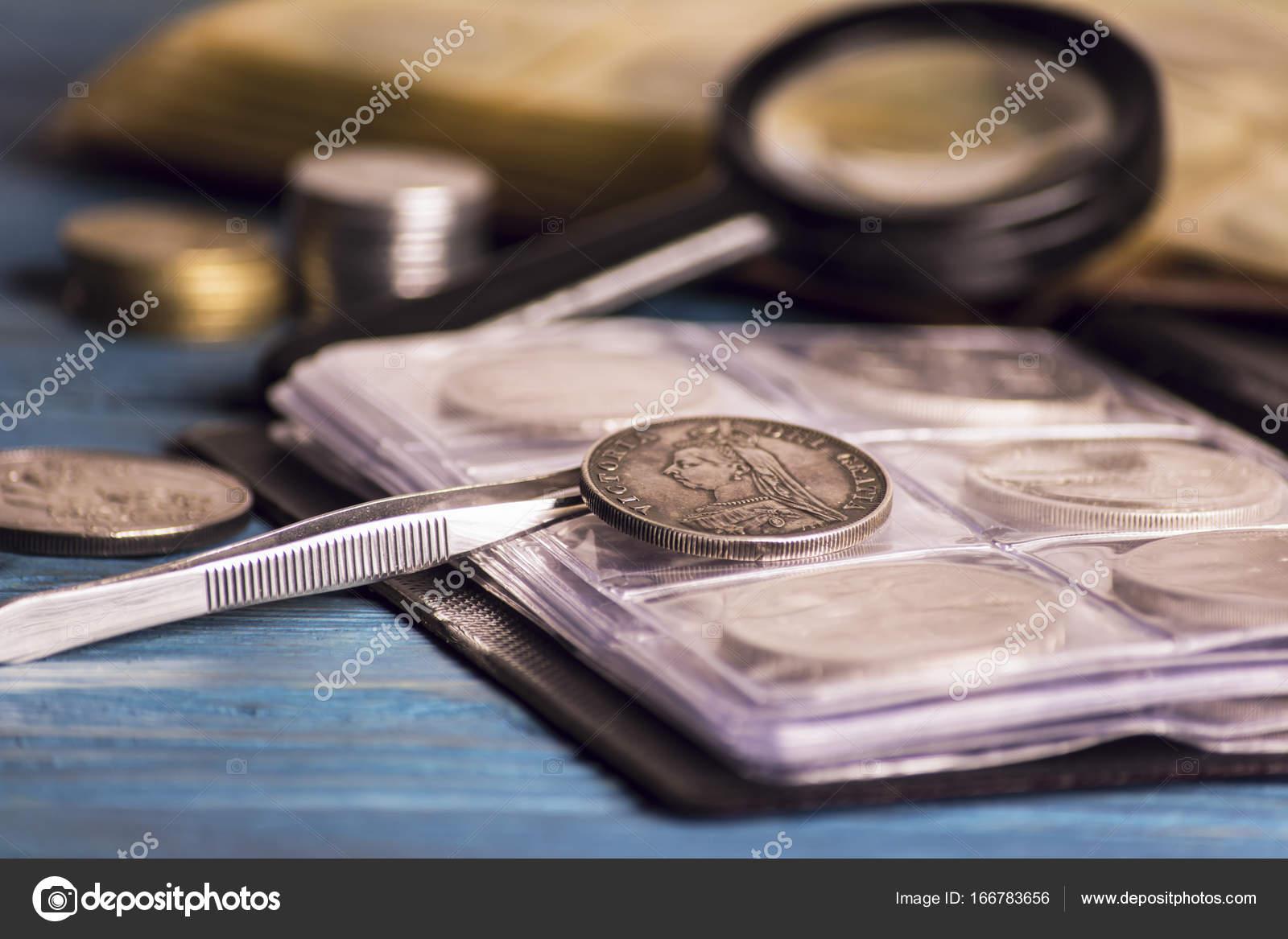 Alte Wertvolle Münzen Sammeln Stockfoto Mikitiger 166783656