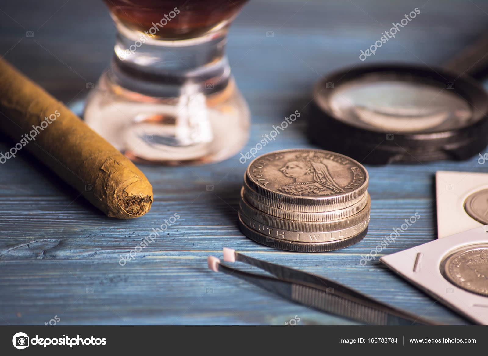 Alte Wertvolle Münzen Sammeln Stockfoto Mikitiger 166783784