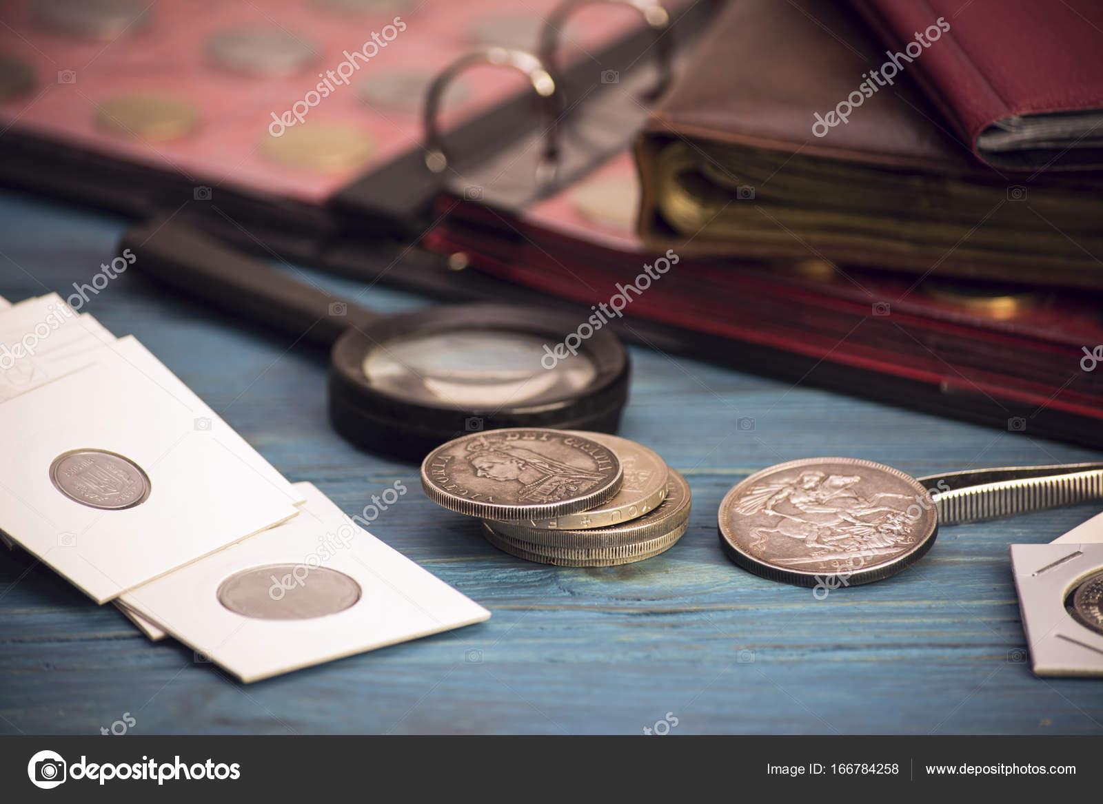 Alte Wertvolle Münzen Sammeln Stockfoto Mikitiger 166784258